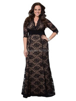 2015 Spring And Autumn Brand Women S Black Lace Women Dress Code 3XL 4XL Long Small
