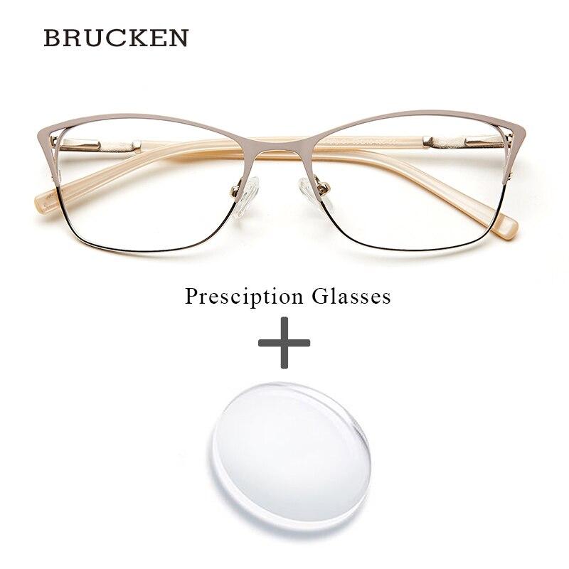 Metallo Donne Prescrizione Occhiali di Modo Dell'occhio di Gatto Progressive Transizione Chiara Ottica di Prescrizione di Occhiali Da Vista Oculos De Grau