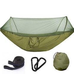 Multiuso Portatile Amaca Doppia Campeggio Survivor Amaca con Zanzariera Stuff Sack Altalena hamac Letto Uso Tenda Mobili