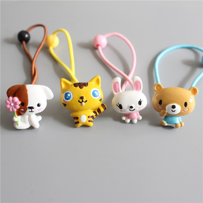 2 PCS New Cute Small Animal Tiger Princess Headwear Kids Elastic Hair Bands Baby Headdress Children Ropes Girls Hair Accessories
