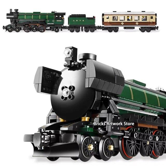 Technic Series Emerald Night Train Set Minifigs Figures 1085Pcs Building Blocks Toys Kit For Kids Boys Gifts Fit Legoness 10219