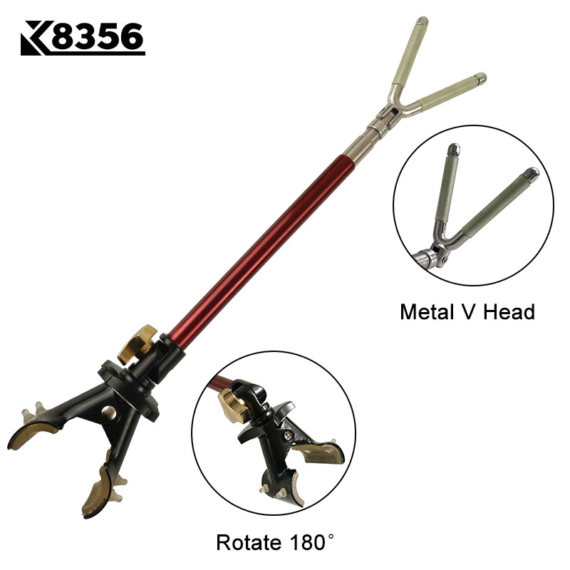 K8356 Metal Big V Head Luminous Bracket Hanging Rod Anti-skid Fishing Rod Battery Bar Racks Rod Fishing Gear Fishing Bracket