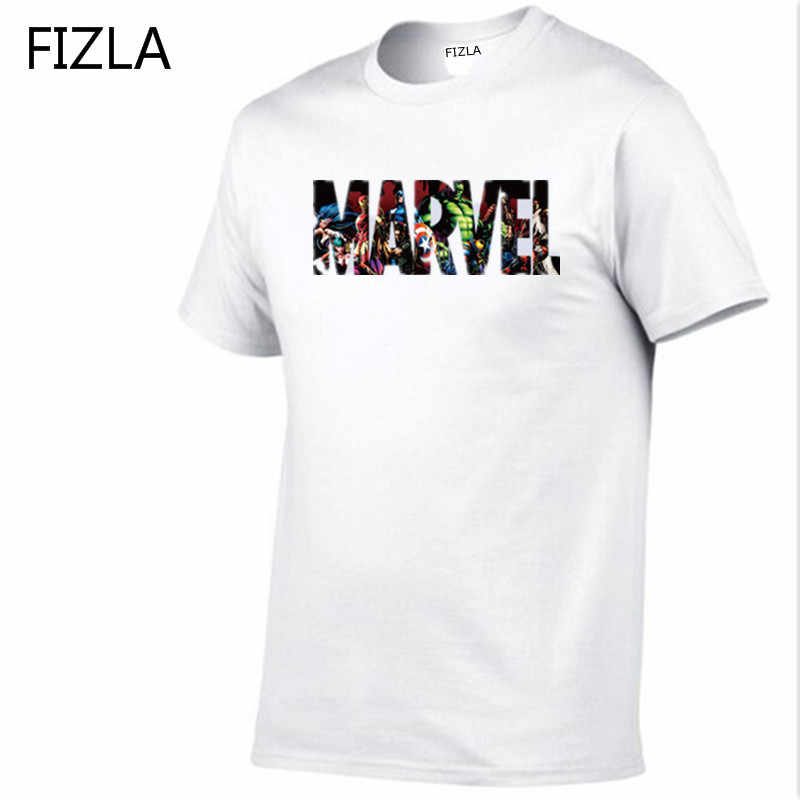High quality Fashion MARVEL t-Shirt men O-Neck short sleeves Casual male tshirt marvel t shirts men European size Free shipping