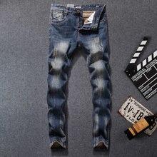 High Quality Straight Fit Ripped Jeans For Men Dsel Brand Distressed Biker Jeans Men Knee Hole Pants Vintage Designer Men Jeans