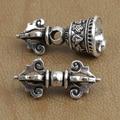 Hechos a mano 925 Silver Dorje campana amuleto de plata símbolos budistas Dorje encantos de Bell tibetano Mala contador Dorje campana colgante