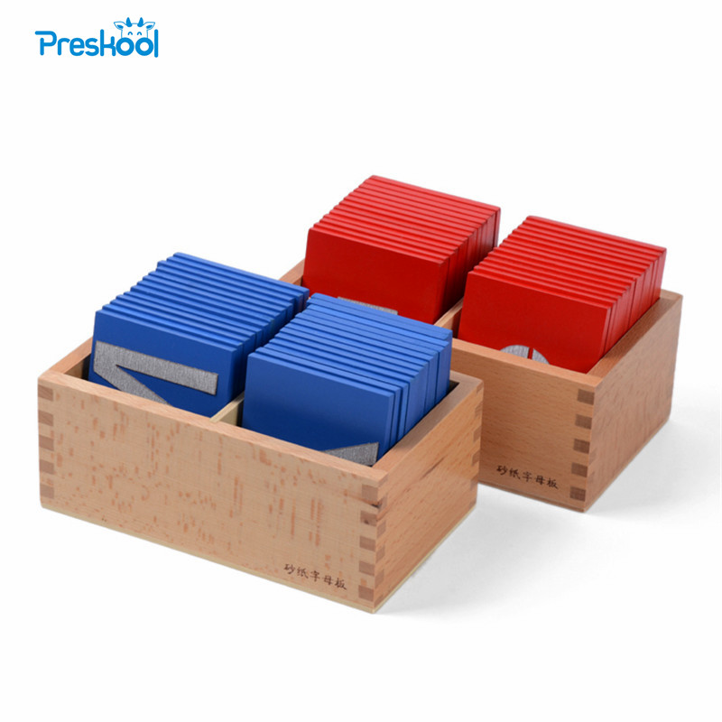 Baby Toy Montessori Lower and Capital Case Sandpaper Letters Wood Double Print for Early Childhood Preschool Brinquedos Juguetes baby toy montessori baric weight tablets with box early childhood education preschool training kids brinquedos juguetes