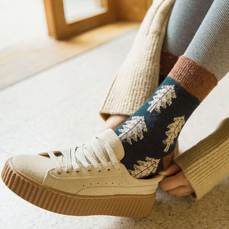 Socks 2018 Womens Harajuku Short Socks Keep Warm Gift Box Cotton Skateboard Sock Comfortable Winter Cute Girl Socks