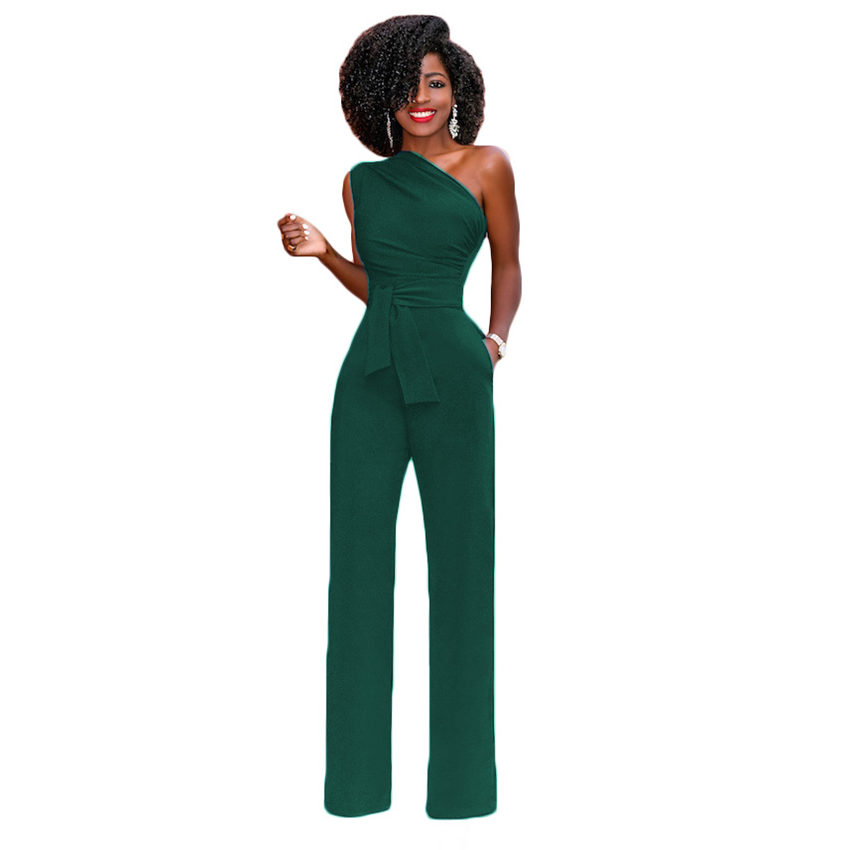 61a1f92404e Tsuretobe Women Off Shoulder Casual Jumpsuits Wide Leg Pants Summer Elegant  Rompers Womens Jumpsuit Party Overalls Female-in Jumpsuits from Women s  Clothing ...