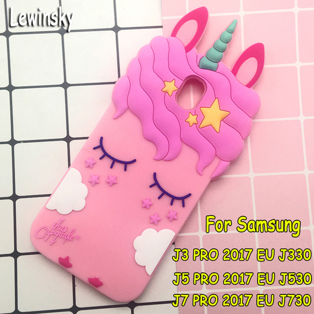 official photos a33e9 4f1e1 US $2.99 |For Samsung Galaxy J3 J5 J7 pro 2017 EU J530 J730 Unicorn phone  Cases Cute Cartoon Eyelashes horse Cat Soft back cover girl case-in Fitted  ...