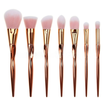 2016 7 Pcs Makeup Brushes Set Synthetic Hair Techniqueing Heart Shape Make Up Brushes Tools Cosmetic Foundation Brush kits