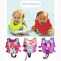 2 10Y Baby Float Vest Swim Trainer Kids Swim Vest Girls Life Jacket Swimsuit Swimwear Inflatable Swan Pool Piscine Accessories