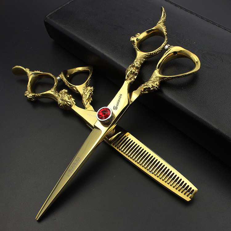 6 Inches Hot Professional Hairdressing Scissors Hair Cutting Scissors Hairdresser Maker Set Hairdresser Salon Equipment Kit