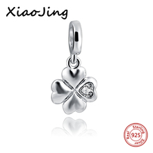 hot deal buy new arrival 925 sterling silver clover charms beads fit original european charm bracelet beads diy jewelry making for women gift
