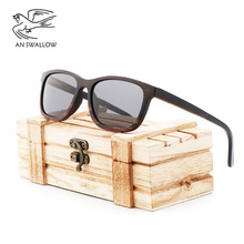 Fashion retro men and women sandwich handmade bamboo wooden Sunglasses wooden polarized UV400 sunglasses niksihda 2019 european and american pop polarized sunglasses fashion sunglasses anti ultraviolet sunglasses uv400
