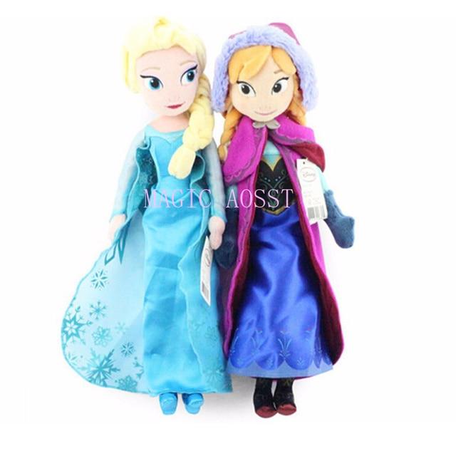 40 centímetros Brinquedos Boneca de Pelúcia Presentes Originais Bonito Meninas Brinquedos Presentes de Aniversário Da Menina Da Boneca Princesa Anna & Elsa Pelucia Boneca juguetes
