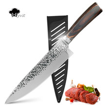 Kitchen knife Chef Knives 8 inch High Carbon Stainless Steel 7CR17 440 Frozen Meat Fish Utility Paring Knife Cutter Cooking(China)