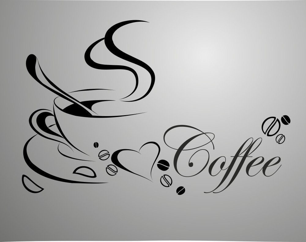 Newly Designed Coffee Cup For Home Kitchen Stickers