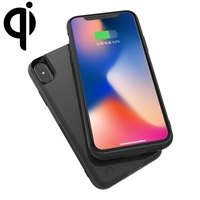 HAMTOD for iPhone XS / X 4000mAh 5V 1A Brushed Texture Backup External Battery Charger Case / Rechargeable Power Bank Case
