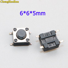 ChengHaoRan 20-100pcs 6*6*5mm micro switch 6X6X5mm Tactile Tact Push Button Micro Switch Momentary Push Button