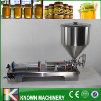 Fully Pneumatic Paste Filling Machine Pneumatic With Single Cylinder Piston Shampoo Cream Sauce Lotion Oil Filler