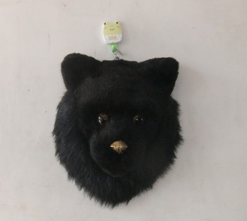 creative Simulation bear head toy polyethylene&furs black bear head model gift about 24x24CM y0358
