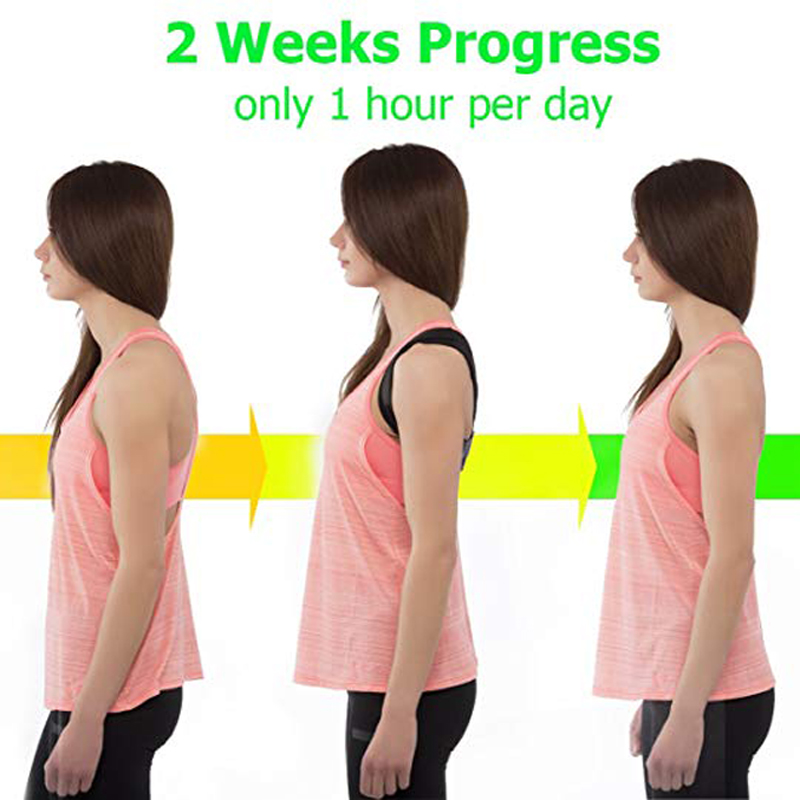 YOSYO Adjustable Posture Corrector Belt for Improvement for Sitting Position and Body Posture Helps to Relieve Pain from Shoulder and Back 13