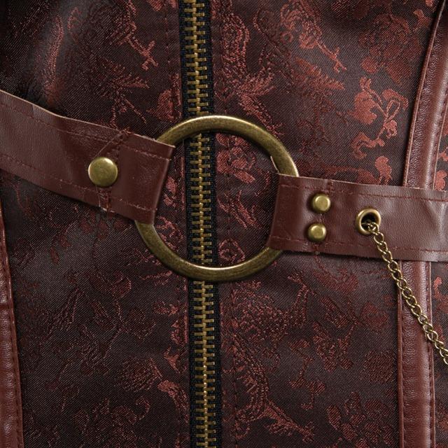 Faux Leather Corset Bustier