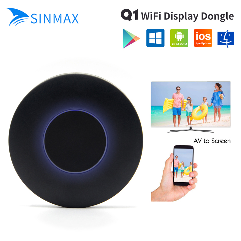 HD+AV output Q1 Mirroring Dongle wifi display receiver Android TV stick HDMI+USB+Audio video interface VS chromecast 2 dab stick