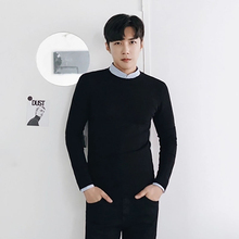 Winter Slim Sweater Warm Solid Color Knitted Pullover Men Turtleneck Sweater Korean Style Camisola Masculina Clothes Men 50MY017