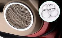 Chrome Door Sound Speaker Frame Cover Trim For Nissan Qashqai Dualis 2011 2013