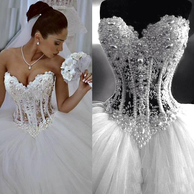 Románticos 2015 Novia Vestidos Vestido De Caliente Noiva Venta 8Pg40n
