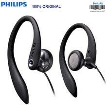Oreillettes dorigine PHILIPS SHS3305 oreillettes écouteurs suspendus Type casque sport Support smartphones pour huawei Xiaomi
