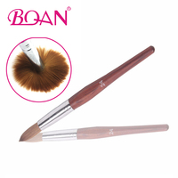 BQAN Superior #24 Pure Sable Acrylic Nail Art Brushes Draw Pen Nail Brush 100% pure kolinsky One Piece