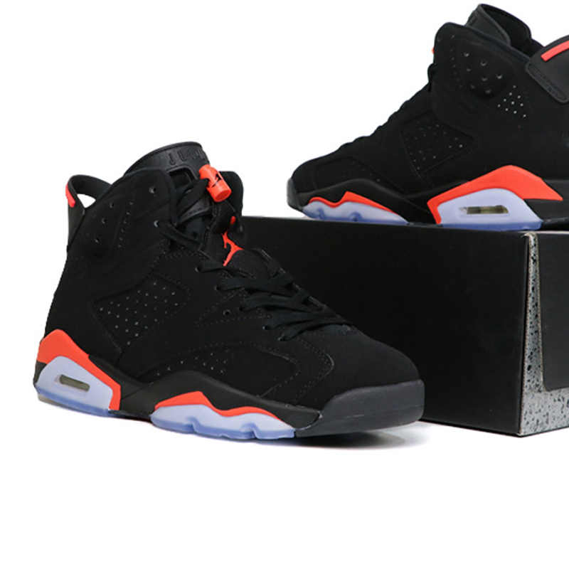 01a610058129f2 Men Jordan Retro Basketball Shoes 6 Women Shoe Black Infrared Outdoor Sport  Shoes Cushion Athletic Trainer