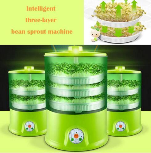 Grande capacité automatique multifonctionnelle intelligente de ménage de machine de germination de haricot de trois couches