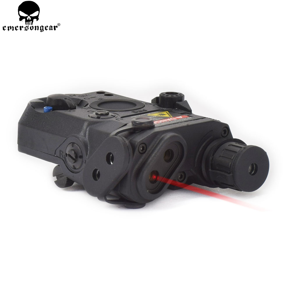 EMERSONGEAR Tactical Shooting LA PEQ 15 Red Laser Device LED Flashlight IR Len ATPIAL for Airsoft