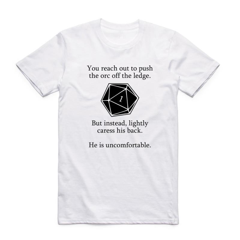 Asian Size Men Printing Dungeon & Dragons Fashion T-shirt Summer Casual O-Neck Short Sleeve T-shirt S-3XL