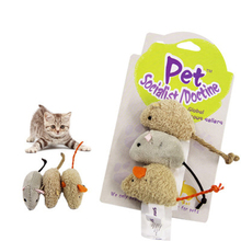 Cute Cat Toy Plush Mouse Interactive Training Funny Resistant Colorful Pet Toys Juguetes Perros Cats Products For Pets 50DC0034