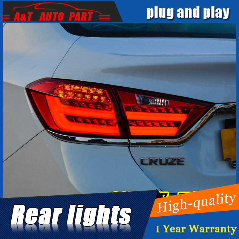 Car Styling LED Tail Lamp for Chevrolet Cruze Tail Lights 2015-2016 for Cruze Rear Light DRL+Turn Signal+Brake+Reverse LED light jgd brand new styling for mitsubishi pajero sport tail lights 2009 2015 led tail light rear lamp led drl singal car lights