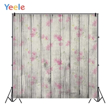 Yeele Solid Planks Wooden Boards Flowers Pattern Personalized Photographic Backdrops Photography Backgrounds For Photo Studio