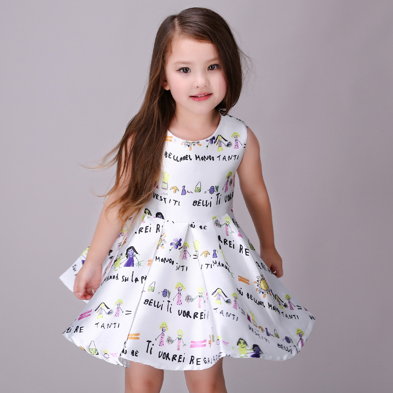 Oucan Baby Girls Infant Kids Floral Print Sundress Clothes Princess Casual Dress