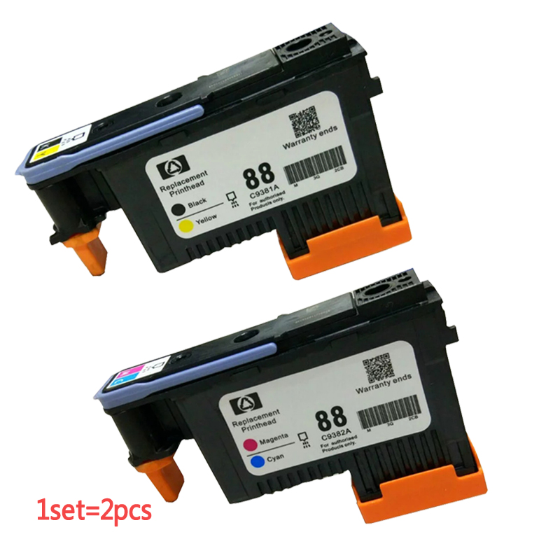 For Hp88 HP 88 printhead C9381A C9382A for HP PRO K550 K8600 K8500 K5300 K5400 L7380 L7580 L7590 printer Print head 1set x new excellently print head for hp88 c9381a c9382a free shipping for hp 88 printhead k550 5300 5400