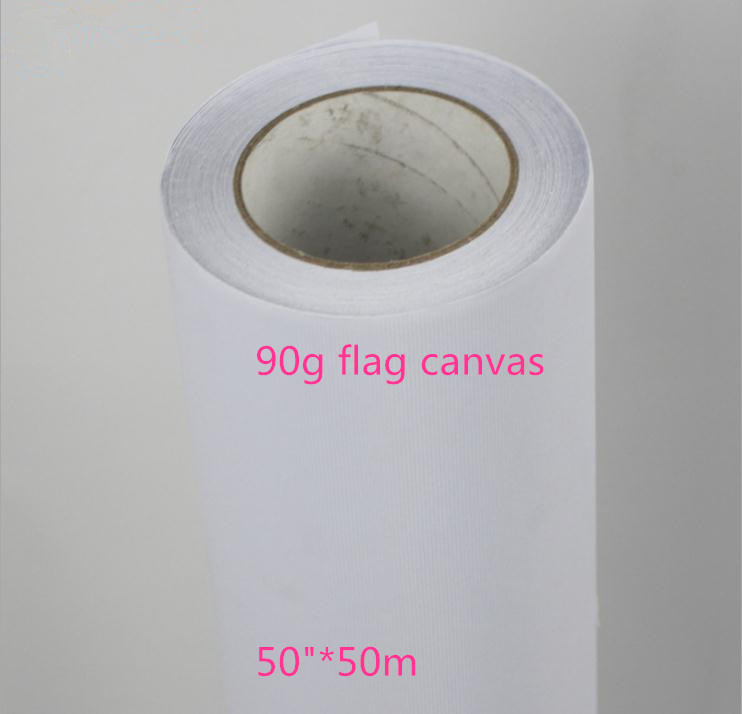 image relating to Printable Fabric Roll named US $155.19 90g Printable Inkjet print traveling flags polyester show material roll 50inside-within Portray Canvas versus Business College or university Elements upon