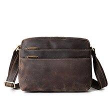 Messenger Bag Men Genuine Leather Real Cow Leather Flap Man Vintage Designer Handbag Student Bag For Tablet Laptop недорого