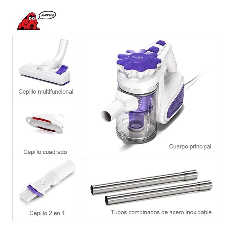 PUPPYOO низкая шум портативный бытовой Пылесосы для автомобиля ручной пылесборник и аспиратор WP526-C