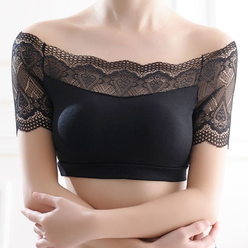 Fashion Women's Intimates Solid Bare Shoulder Strapless Sexy Lace Color Tube Tops Underclothes Bra FS0621