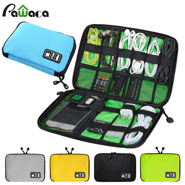 Portable Travel zipper USB Cable Storage Bag Organizer Nylon Phone Charger  Case For Electronic Accessories Power