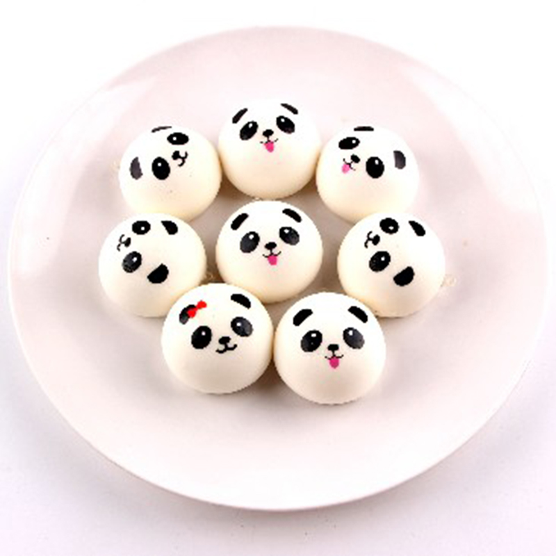 50pcs/lot Love Soft squishy Toys Funny panda kawaii squishies wholesale Cell Phone Straps Key Chain Squeeze Stress Reliever