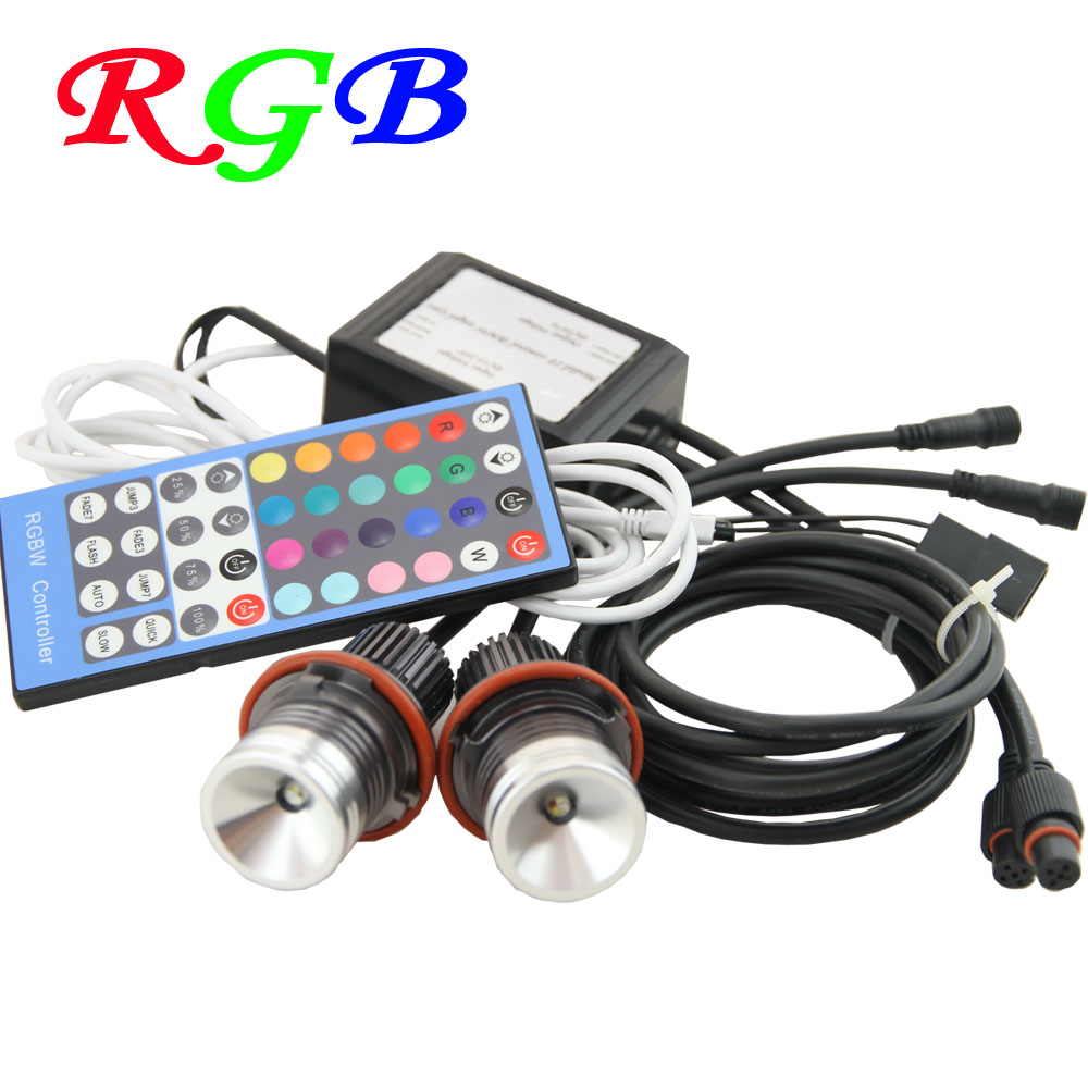 100% factory sale 12V canbus Led marker angel eyes RGB remote control for BMW E39 (01-03) LCI (525i, 530i, 540i) ,E39 M5(00-03) new e39 rgbw ir remote control led marker angel eyes for bmw e87 e60 e61 e63 e64 e65 e66 e53 e83 x5 rgb color changing lighting
