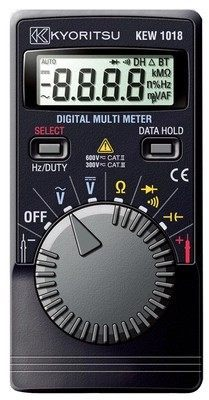 Kyoritsu 1018H Digital Multimeter (Hard Case) DC 400mV/4/40/400/600V AC 4/40/400/600V  цены